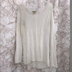 Lucky brand - White crochet sweater